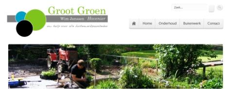 Website Groot Groen Hovenier